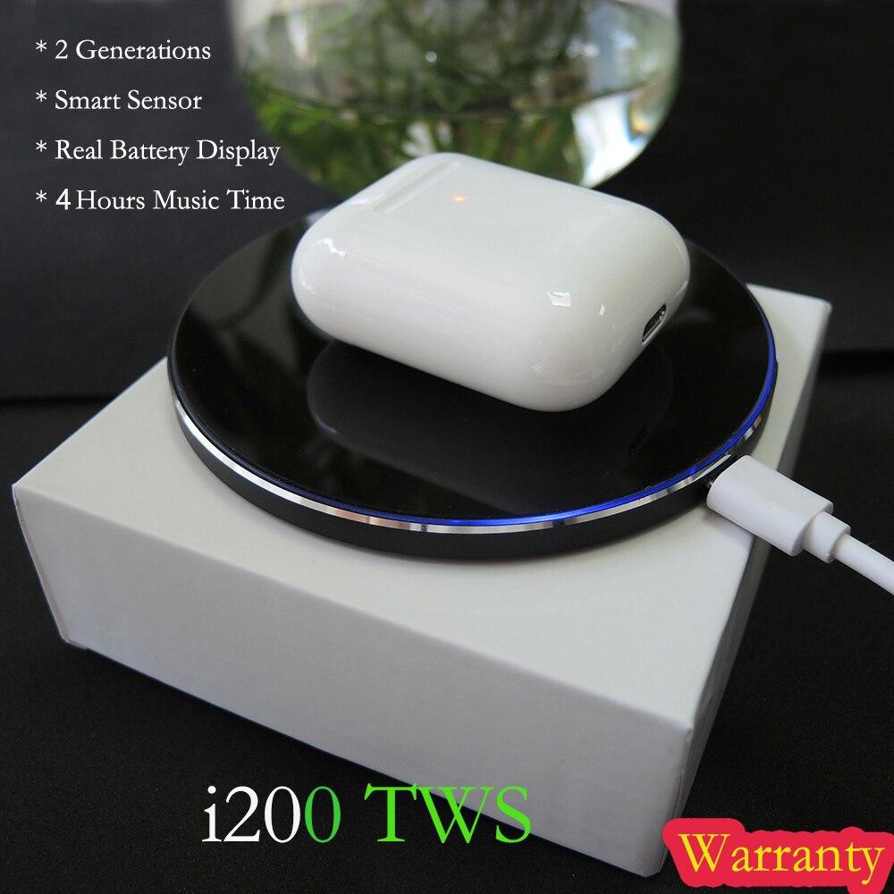 Tws i200 Original Fones De Ouvido Fones De Ouvido Sem Fio fone de ouvido bluetooth Pop up Sensor Inteligente de Carregamento da caixa PK w1 chip i60 i10 i30 i100 tws