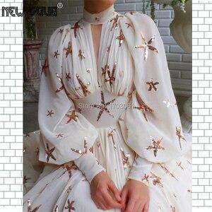 Image 3 - Bling Ngôi Sao Nữ Váy Đầm Dạ Tay Sang Trọng Thổ Nhĩ Kỳ Hồi Giáo Vũ Hội Đầm Đầm Vestido De Festa 2020 Chính Thức Đảng Bầu Dubai