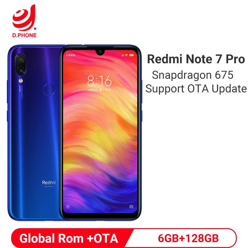 Oficial global rom xiaomi redmi nota 7 pro 6 gb 128 gb snapdragon 675 octa núcleo do telefone móvel 48mp câmera dupla 4000 mah smartphone