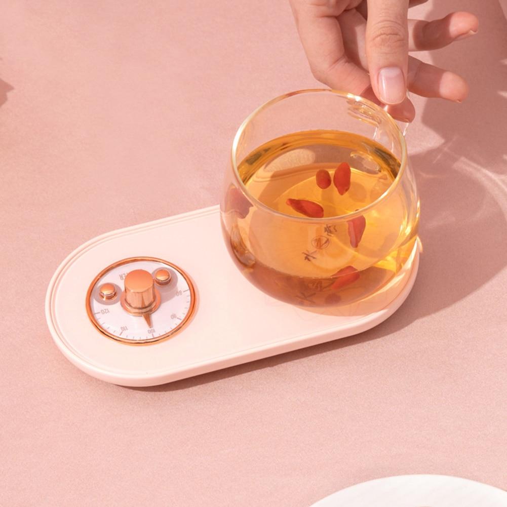copo coaster aquecimento esteira cafe leite cha 05