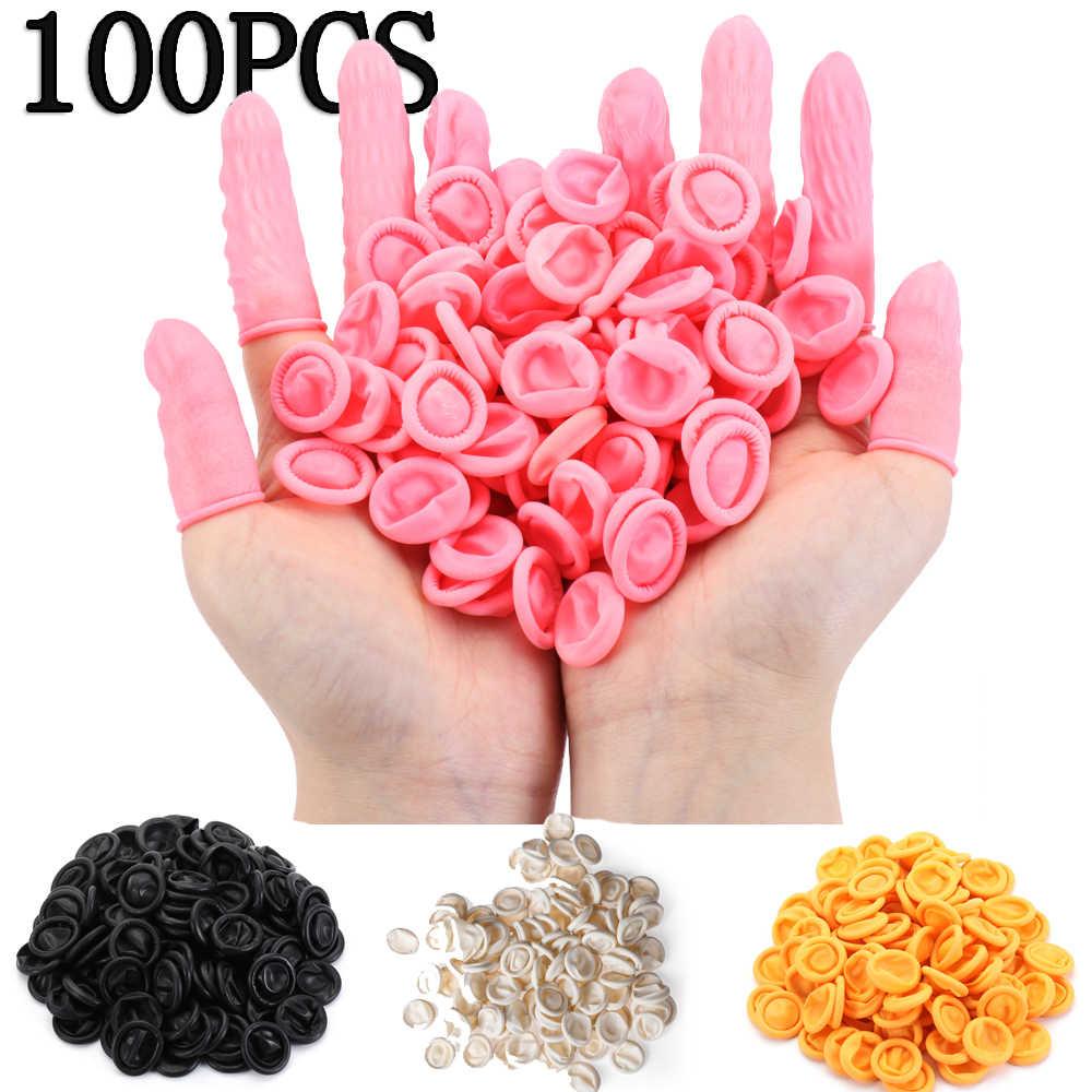 Color : Black 1000 Pcs Disposable Fingertips Protector Gloves Rubber Non-Slip Finger Cover Cots Black//Pink//White//Yellow//Orange for Handmade Industrial Apply
