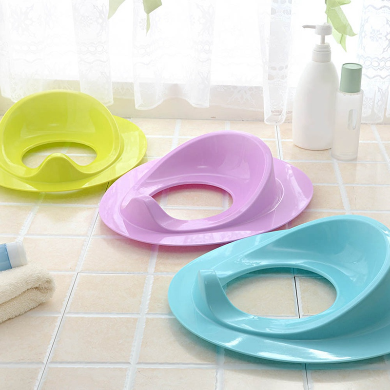 New Kids Baby Bathroom Solid Color Toilet Seat  Newborn Toddler Ring Potty Training Seat Cover Cushion Trainer