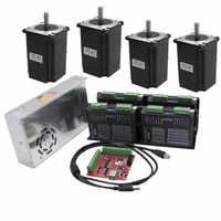 CNC Router 4 Axis kit 4pcs DM542 Stepper motor driver+ 4pcs NEMA23 425 Oz DC motor +350W power supply FOR linear actuator