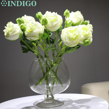 7pcs/Lot New Green Onion Rose Short With Bud Table Decoration Artificial Flower Wedding Party Event Free Shipping