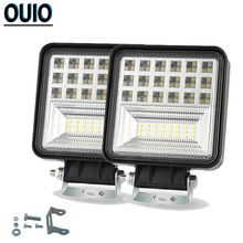 126W 4.6Inch Offroad Light Bar Square Combo Spot Floodlight 4x4 Car LED Work Auto ATV SUV Truck Motorcycle Boat Trailers
