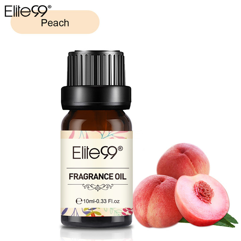 Elite99 Peach Fragrance Oil 10ML Flower Fruit Pure Essential Oil Relax Diffuser Lamp Air Fresh Massage Natural Relax