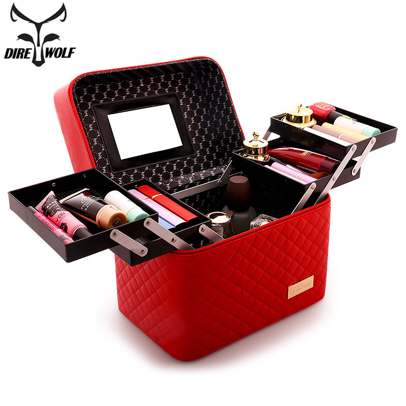 Professional Cosmetic Bag Beautician Multilayer Women Makeup Bag For Cosmetics Large Capacity Nail Toolbox Make Up Bag Organizer