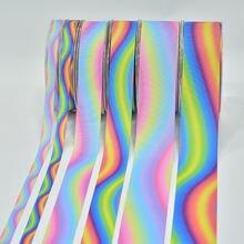 5 ярдов 10 мм 25 38 радужные полосатые ленты с рисунком из мультфильма