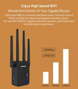 Image 5 - 1200Mbps COMFAST Wireless WiFi Range Extender 2.4/5.8 GHz Dual Band Repeater Booster สัญญาณ Ethernet 4 เสาอากาศ Wi Fi amplifer AP