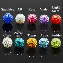 1PC 16g&14g Epoxy Crystal Ferido Ball Replacement Ball Piercing Accessories for Labret Nose Tragus Navel Lip Earring New Jewelry(China)