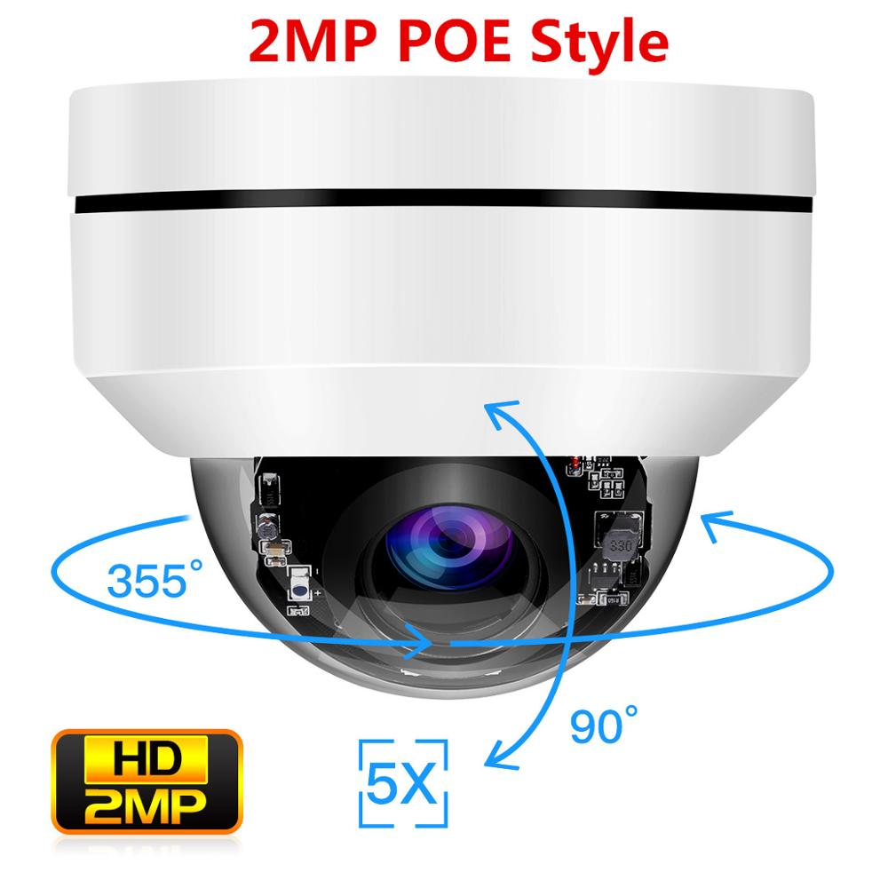 TOMLOV 2MP PTZ HD IP Camera Outdoor POE Security Dome Camera 5X Optical Zoom Onvif Network IR Night Vision IP66 Waterproof Ipcam