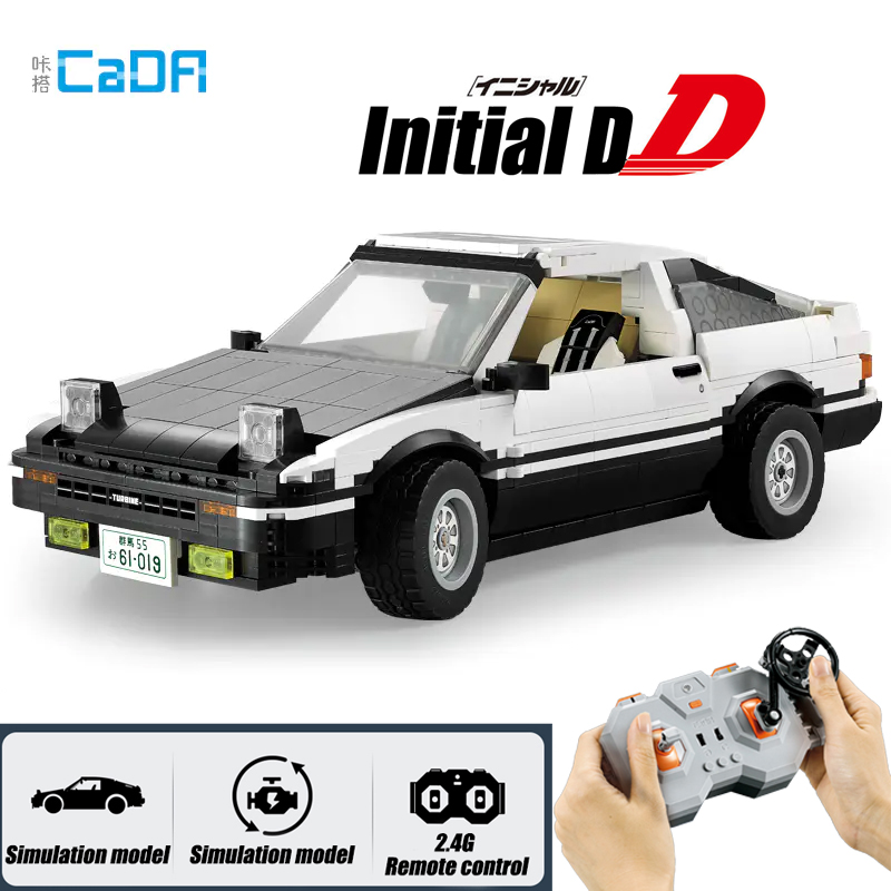 Initial D Toyota K81 AE86 Super RC Car 2 Versions Building Blocks Set Fit Technic Creator Diy Brick Toy For Children Boy Gift