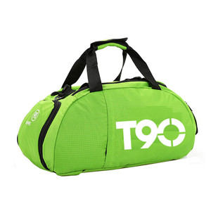 Image 5 - New Men Sport Gym Bag Women Outdoor Gym Fitness Bags Separate Space for Shoes Pouch Rucksack Hide Backpack