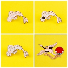 Cartoon Dolphin Whale Brooches for Women Men Enamel Pins and Brooch Jewelry Clothes  Denim Jacket Backpack Badge Fashion Gift universe boy anime funny pins medal brooches for women men shirt hat clothes backpack decoration badge jewelry j0804
