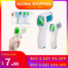 Termometro Digital Thermometer Infrared forehead Thermometer Non contact With LCD Backlight body termometro infrarojo digital