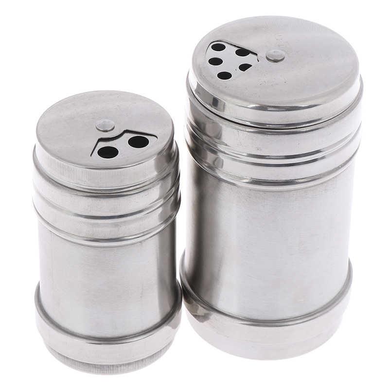 Utensilios de barbacoa al aire libre de acero inoxidable especias tarro azúcar sal pimienta hierbas palillo de dientes botella de almacenamiento para Picnic al aire libre