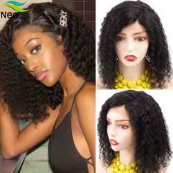 4X4 Lace Closure Bob Wig Brazilian Short Curly Human Hair Wigs 8