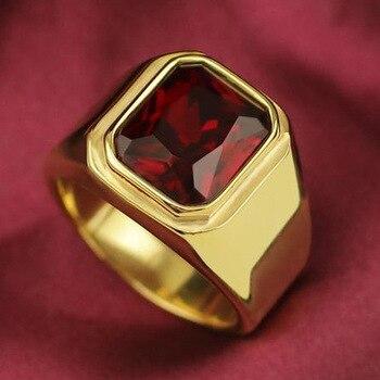 טבעת גולדפילד ויהלום קריסטל אדום