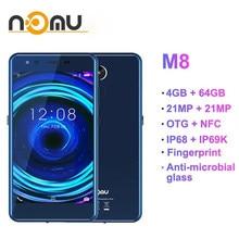 Telefon komórkowy Nomu M8 IP68 IP69K wodoodporny MTK6750T Octa Core 5.2 ''21MP + 21MP 4GB + 64GB SmartPhone OTG + NFC 4G LTE telefon komórkowy