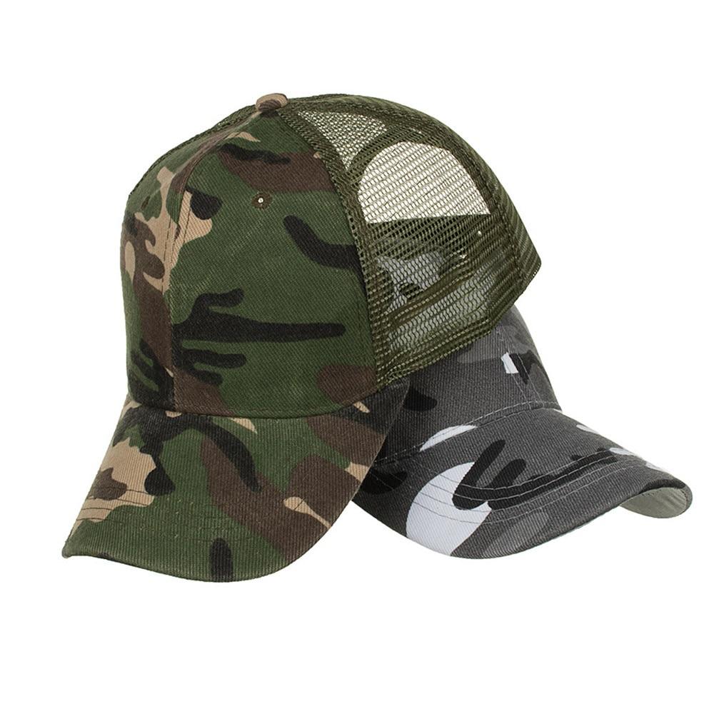 Camouflage Ponytail Baseball Cap 2020 Messy Bun Hats For Women Men Snapback Caps Casual Summer Sun Visor Outdoor Hat Gorras Casquette 3