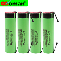 Original 18650 Replacement Batteries NCR18650B 3.7 v 3400mah 18650 Lithium Rechargeable Battery Welding Nickel Sheet batteries