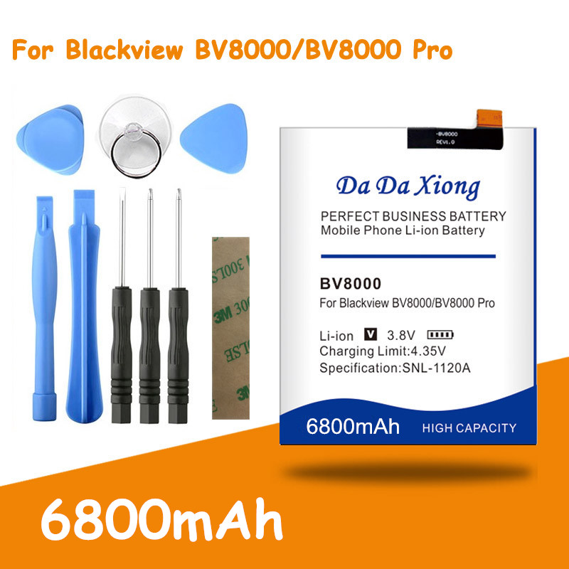 High Capacity  6800mAh V636468P For Blackview BV8000 Battery Blackview BV8000 Pro Free Tools