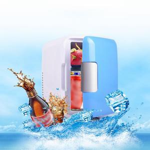 New 4L Car Refrigerator Automoble Mini Fridge Refrigerators Freezer Cooling Box frigobar Food Fruit Storage Fridge Compressor