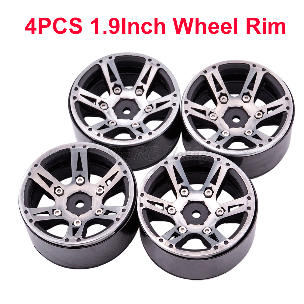 4PCS RC Rock Crawler Metal Wheel Rim 1.9 Inch BEADLOCK for 1/10 Axial SCX10 90046 TAMIYA CC01 D90 D110 TF2 Traxxas TRX 4 RC Car-in Parts & Accessories from Toys & Hobbies    1