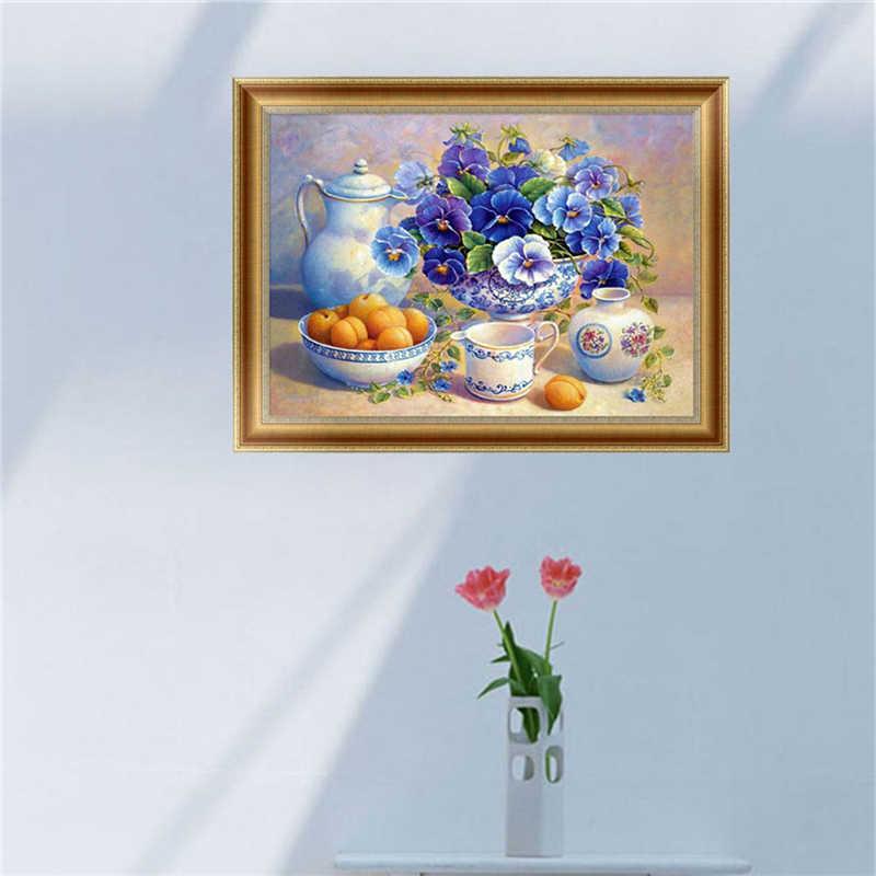 5D Del Fiore Del Diamante Pittura Del Ricamo A Punto Croce, Arte, Artigianato FAI DA TE Complementi Arredo Casa Y1QB