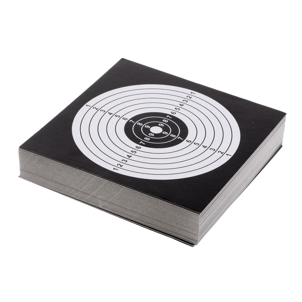100Pcs 14cm Card Targets Paper Target Shooting For Archery Bow Hunting Shooting Practice Training