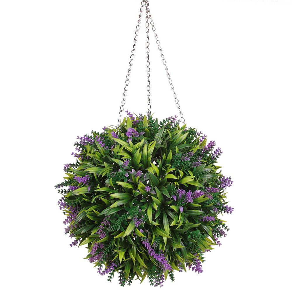 Искусственный шарообразный Топиарий зеленый искусственный шар Искусственная Трава корзина для цветов сад вечерние торговый центр Декор Свадебные украшения