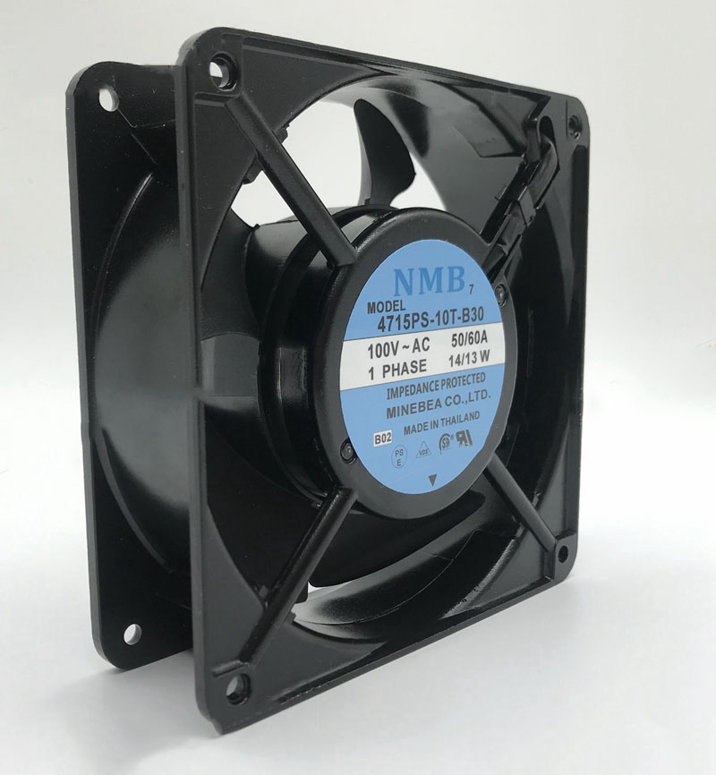 Free Shipping 4715PS-10T-B30 E06 Server Square Cooling Fan AC 100V 15W 120x120x38mm 2-wire