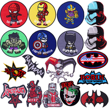 The Avengers Patch Sewing Iron On Patches Clothes Embroidered For jeans stripes patch clothing stickers F