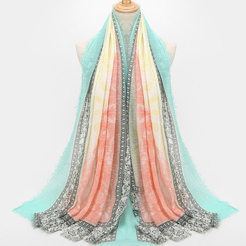 Hot Women Cotton Linen Scarf Cashew Print Large Crinkle Wrinkle Tassel Shawl Head Scarf Muslim Hijab Scarves high quality women 100% rayon crinkle scarf cotton wrinkle muslim hijab wraps headband long scarves 18 colors 180 95cm