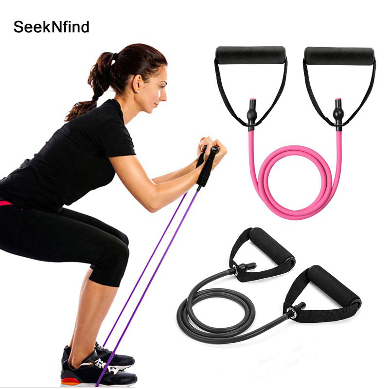 2019 120cm Yoga Pull Rope Elastic Resistance Bands Fitness Workout Exercise Tubes Practical Training Rubber Tensile Expander