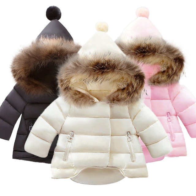 Thickened Padded Baby Jacket with Hood 1