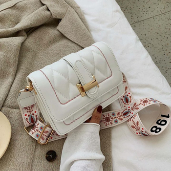 Fashion Women Designer Shoulder Bag High Quality PU Leather Female Brand Totes Female White Crossbody Bag For Women Handbag 2020 klonca freeshipping chic female handbag new designer stone flap bag high quality pu leather versatile crossbody bag 2019 hot