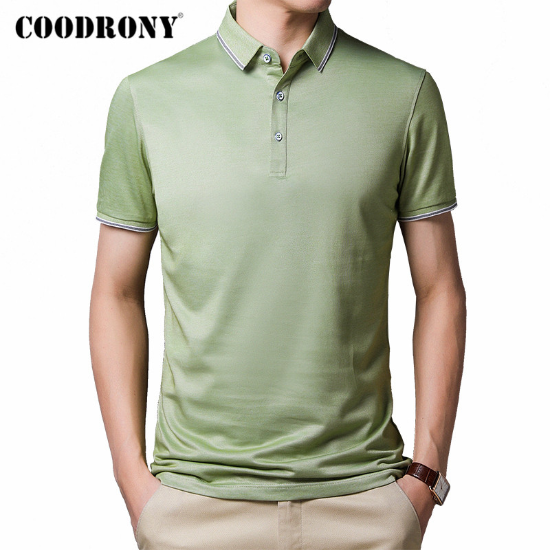 COODRONY 2020 Spring Summer Short Sleeve T Shirt Men Slim Fit Business Casual T-Shirt Men Clothes Cotton Tee Shirt Homme C5013S