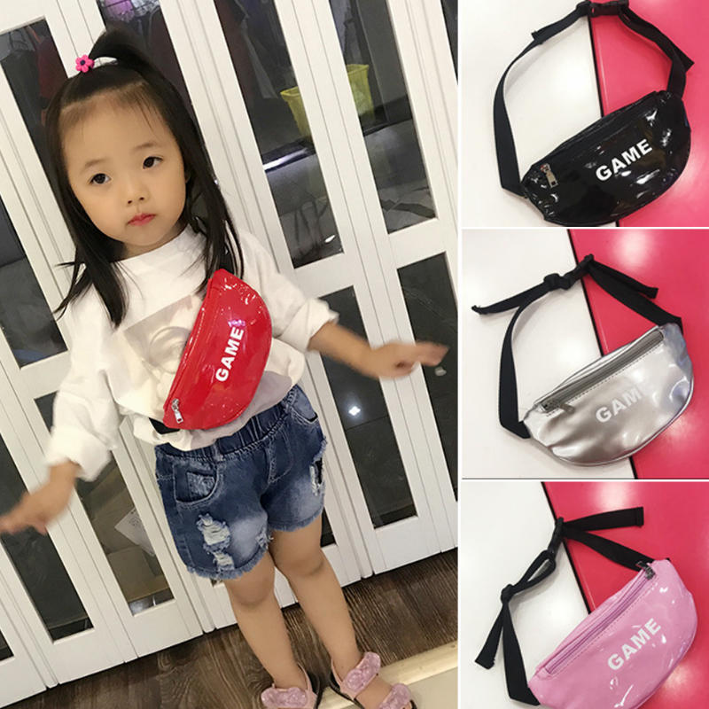 Children Baby Girl Waist Packs Kid Fanny Bag Fashion Solid Color Chest Bag Fanny Chest Bags Boys Girls Baby Money Belt Bag
