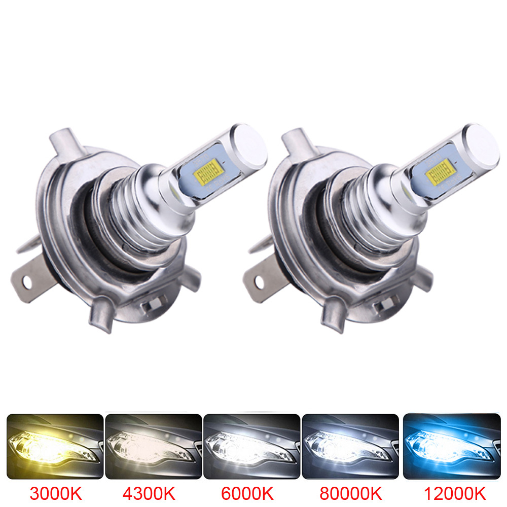 2pcs Mini Size H4 H7 LED H1 H11 H8 H9 HB4 LED Canbus Headlight Bulbs Car Fog Light Lamp Fog Lights 80W 6000K 12000lm 12V 24V