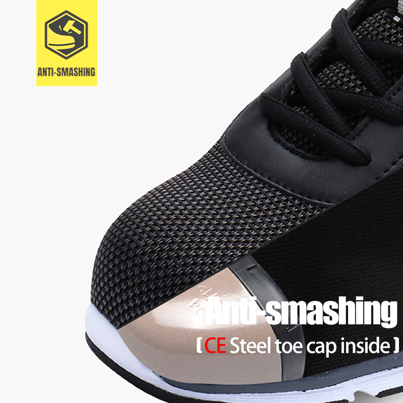 LARNMERN Men's Safety Shoes Steel Toe Construction Protective Footwear Lightweight 3D Shockproof Work Sneaker Shoes For Men 2