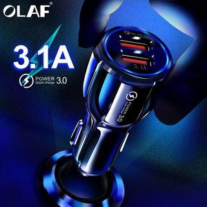 Image 1 - Olaf Xe Hơi USB Quick Charge 3.0 2.0 Sạc 2 Cổng USB Sạc Nhanh Ô Tô Cho iPhone Samsung máy Tính Bảng Trên Ô Tô Sạc