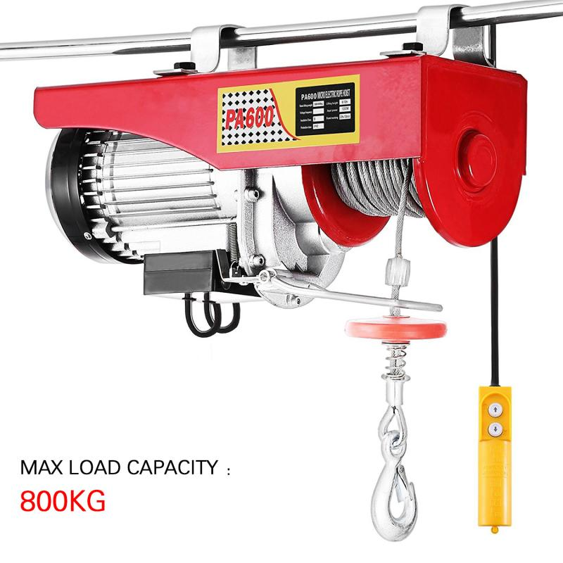 200-800KG Load-bearing Electric Hoist Remote Control Auto Lifting Tool Household Crane Electric Cable Hoist Winch Motor HWC