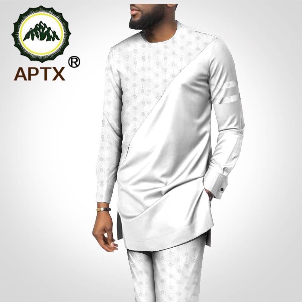 Men`s 2 Piece Suit African Dashiki Clothing Coat Jacket+Ankara Pants Set Tracksuit Outfit Blazer Aptx T2016005