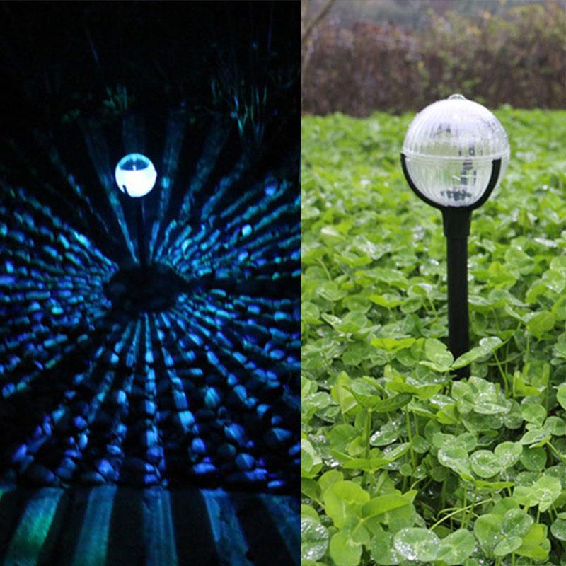 7 Color Mode IP65 Solar Power Buried Light Ground Lamp Durable Gutter Path Way Outdoor Eco-Friendly Garden Decking Home