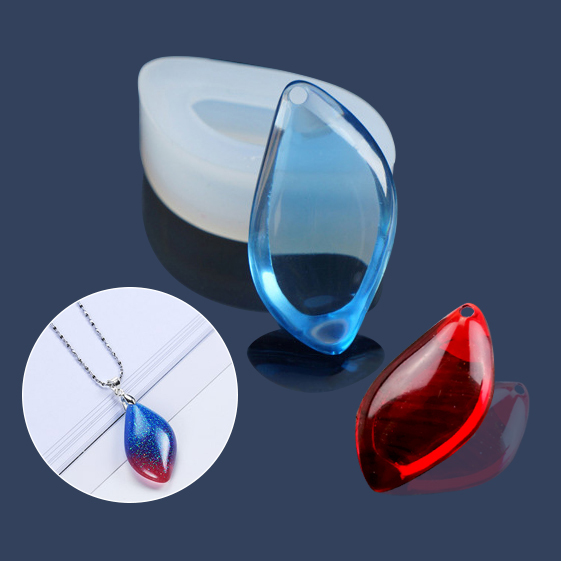 2 Style  Jewelry Diamond Type With Hole DIY Silicone Mould Resin Necklace Craft Jewellery Making Mold Resin Molds For Jewelry