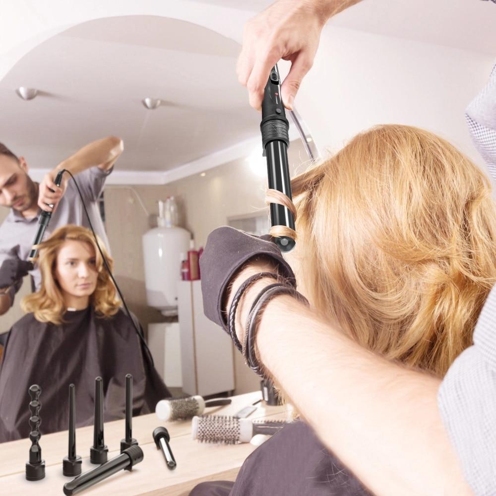 5 parte rolo de cerâmica ondas ferramentas de estilo de cabelo