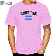 2019 nova manga curta moda masculina t camisas em torno do pescoço honduras camiseta bandeira país orgulho adicionar o seu nome/numbert camisas engraçado