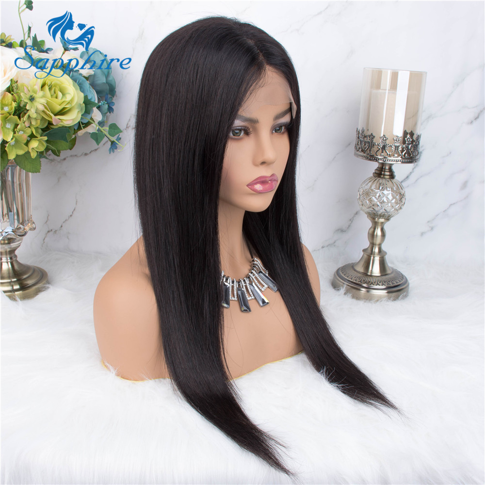 H53f0fa116b4f4b398f8c1b94664c8a07z Sapphire Straight Hair Brazilian Lace Wig 4*4 Lace Closure Wig Human Hair Wigs Straight Preplucked Brazilian Human Hair Wigs