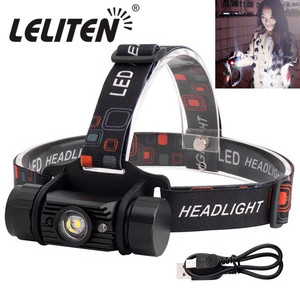Mini IR Sensor led Headlight Induction USB Rechargeable Lantern Headlamp 1 Mode Flashlight Use 18650 Battery Torch(China)
